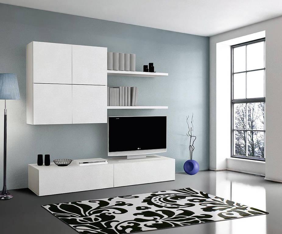 Soggiorno bianco moderno interesting tende per salone for Soggiorni bianchi