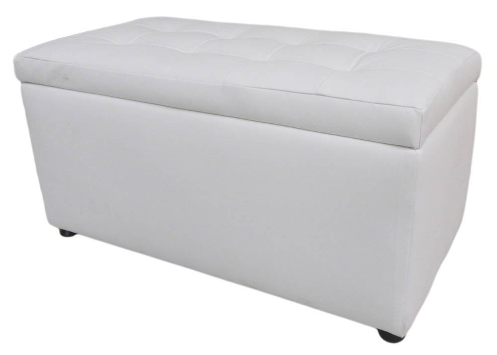 Panca Contenitore Ecopelle : Panca con contenitore in ecopelle bianca cm e h ebay