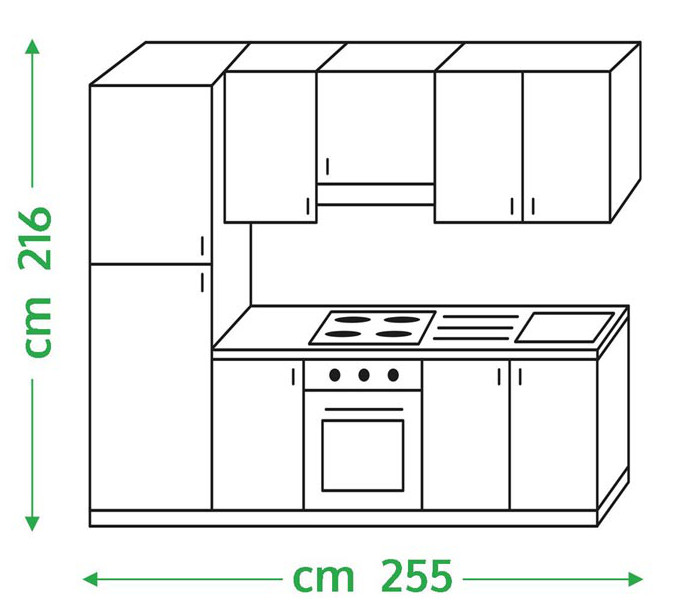 CUCINA componibile in bianco lucido FLY27